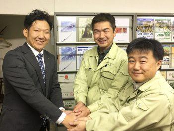 橋本電機工業株式会社 製造部 次長 坂部様 リーダー 磯貝様